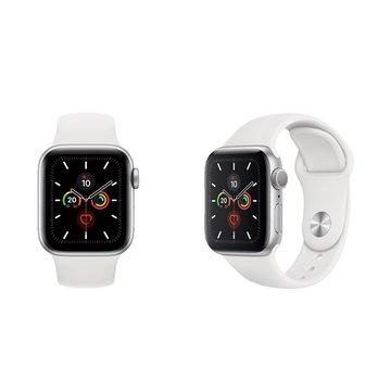 APPLE Watch S5 GPS-銀色鋁金屬錶殼+白色運動錶帶44mm_MWVD2TA/A(客訂)