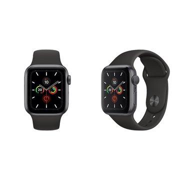 APPLE 蘋果Watch S5 GPS太空灰鋁金屬錶殼+黑色運動錶帶44mm_MWVF2TA/A(客訂