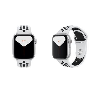 APPLE Watch S5 GPS銀色鋁金屬錶殼+黑Nike運動錶帶40mm_MX3R2TA/A(客訂
