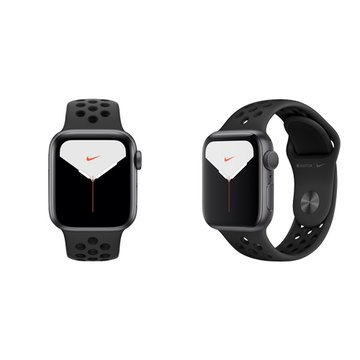 APPLE Watch S5 GPS太空灰鋁錶殼+黑Nike運動錶帶40mm_MX3T2TA/A(客訂)