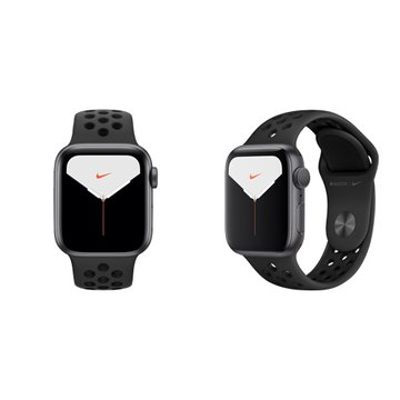 APPLE Watch S5 GPS太空灰鋁錶殼+黑Nike運動錶帶44mm_MX3W2TA/A(客訂)