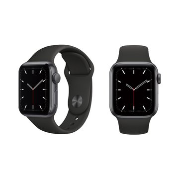 APPLE 蘋果Watch SE GPS太空灰色鋁金屬錶殼+黑色運動型錶帶44mm