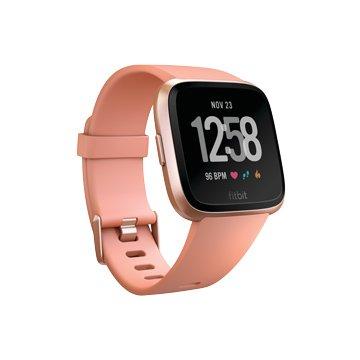 Fitbit Versa 玫瑰金框桃紅錶帶