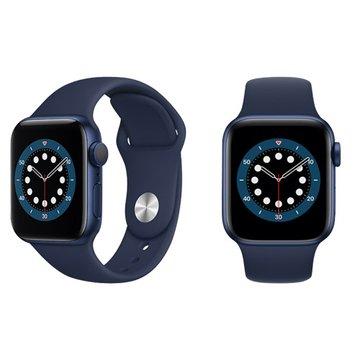 APPLE 蘋果Watch S6 GPS+行動網路 藍色鋁金屬錶殼+深藍運動錶帶40mm