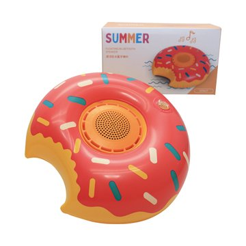 T.C.STAR 連鈺 防水藍牙喇叭附贈造型充氣底座-甜甜圈