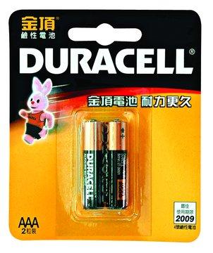 DURACELL 金頂4號鹼性電池*2