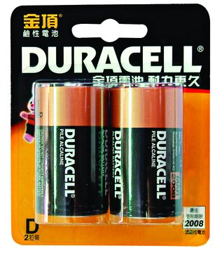 DURACELL 1號鹼性電池*2