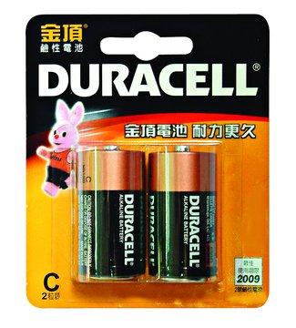 DURACELL 金頂2號鹼性電池*2