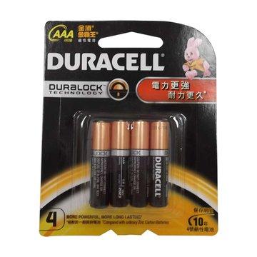 DURACELL 金頂 新金頂鹼性電池4號4入