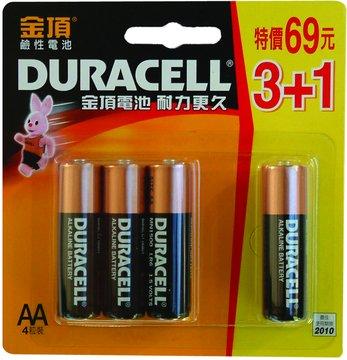 DURACELL 金頂3號鹼性電池3+1入