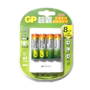 GP 超霸GP充電器+3號2100mAh 4入