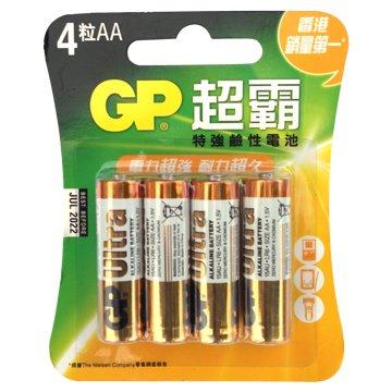 GP 超霸 特強鹼性3號4入電池