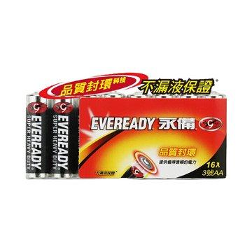EVEREADY 永備永備碳鋅電池3號16入