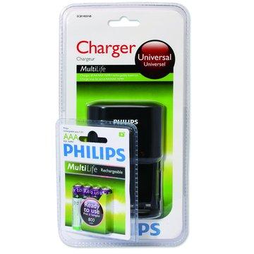 PHILIPS 飛利浦4號低自放充電池4入+充電器