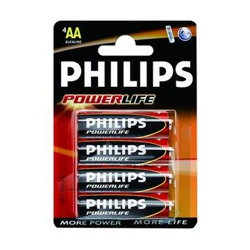 PHILIPS 飛利浦 鹼性電池3號4入