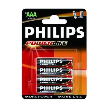 PHILIPS 飛利浦 鹼性電池4號4入