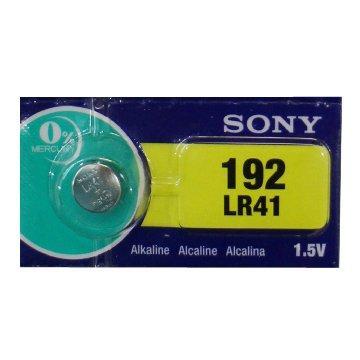 SONY 新力牌 LR41N 鈕扣型 鹼性電池1入