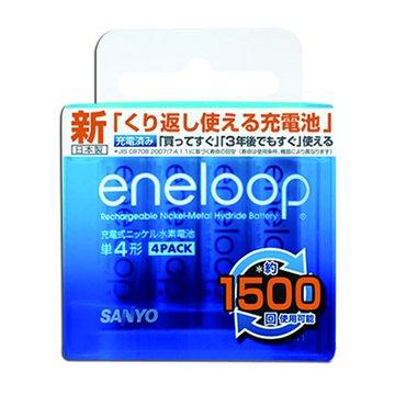 SANLUX 台灣三洋 eneloop低自放電4號800mAh*4入