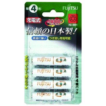 FUJITSU 富士通富士通日製低自放電4號750mAh*4