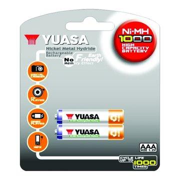 YUASA 湯淺台達 4號1000mAh*2充電池