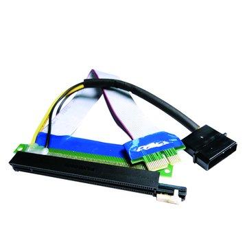 S.C.E 世淇PCIE 1X轉16X +4P電源 延長線20CM