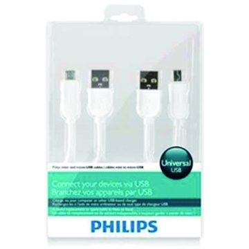 PHILIPS 飛利浦 Micro USB+Mini USB 1M