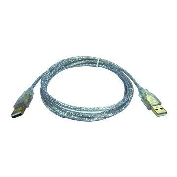 S.C.E 世淇USB 2.0 A-A 鍍金透明線5M