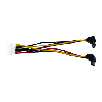 S.C.E 世淇PW-50 SATA電源線1對2 90度