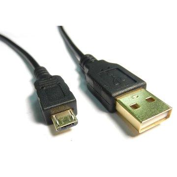S.C.E 世淇USB2.0 A公/Micro B公 3M黑色鍍金線