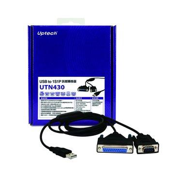 Uptech UTN430 USB A公/1S1P訊號轉換器