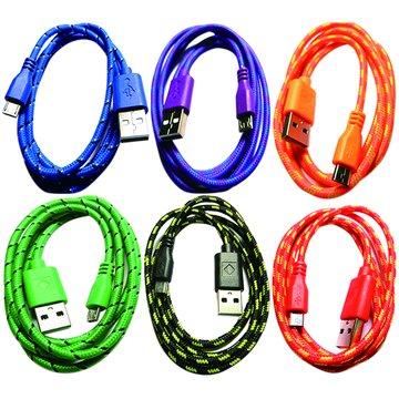 S.C.E 世淇USB2.0 A公/Micro B 公 1M彩棉質線