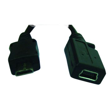 I-WIZ MicroUSB B公/Mini 5pin母座帶線10cm