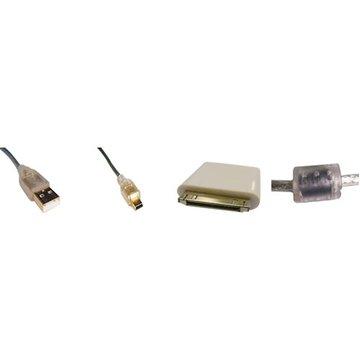 S.C.E 世淇 USB2.0A公/Mini 5Pin+Apple充電兩用組1.8M