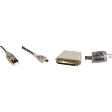 S.C.E 世淇USB2.0A公/Micro B公+Apple充電兩用組50cm