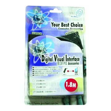 Pro-Best 柏旭佳DVI-I/DVI-I(29M-29M)1.8M連接線