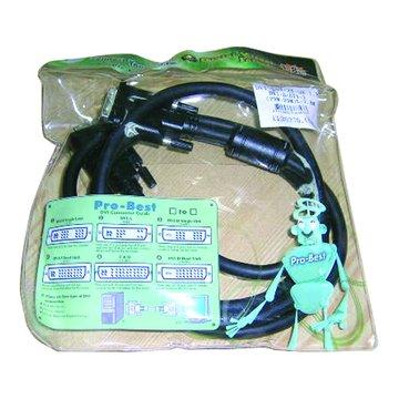 Pro-Best 柏旭佳DVI-D/DVI-D(25M-25M)5米加雙扣