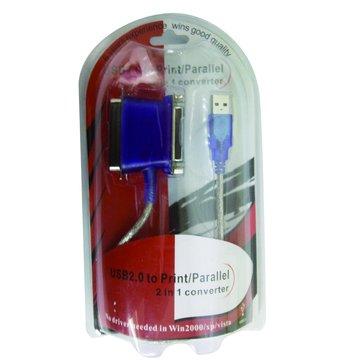 S.C.E 世淇USB接印表機25(母)+36(公)