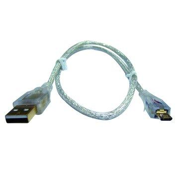 S.C.E 世淇USB2.0 A公/Micro B公 5M鍍金透明線