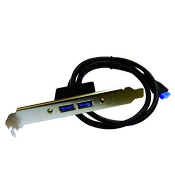 S.C.E 世淇 USB3.0 A公*2/USB 20Pin(主機板線)
