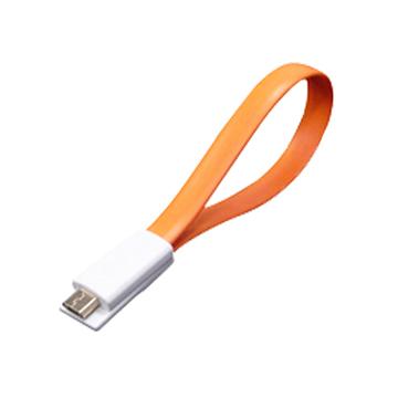Link All USB A公/Micro B公 橘 磁性傳輸線