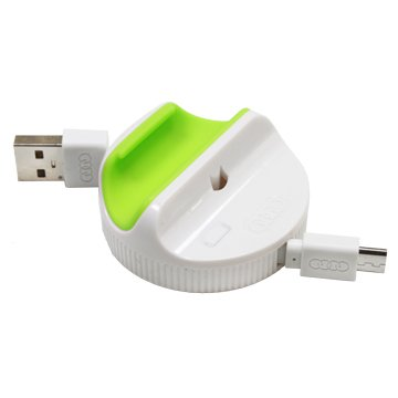 iCooby USB A公/MicroUSB 綠色充電傳輸線