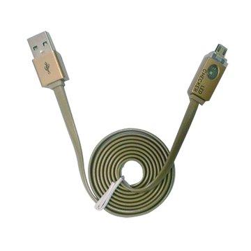 vision 創視USB A公/Micro USB 1M 發光頭傳輸線