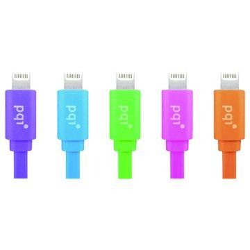 PQI 勁永 Lightning / USB 90cm藍 扁線