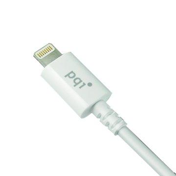 PQI 勁永 Lightning / USB 90cm白 圓線