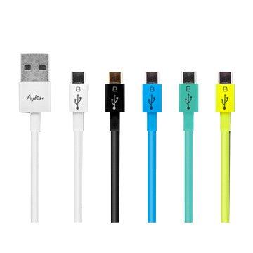 avier USB 2.0 A / Micro B公 傳輸線 1M (彩色)