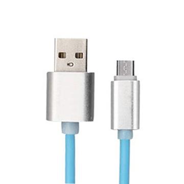 USBA公/MicroUSB1M藍繽紛金剛線