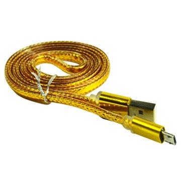USB2.0A公/MicroB公1M土豪金