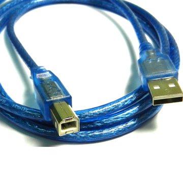 S.C.E 世淇USB2.0 A公/B公 60cm透明藍
