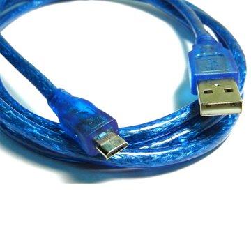 S.C.E 世淇USB2.0 A公/Micro B公 60cm透明藍