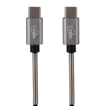 T.C.STAR 連鈺 USB3.1 Type-C 公/公 1M 鋁合金TPE彈簧線